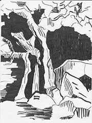 the tree near the Opfertisch